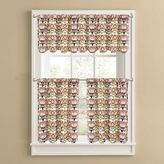 Colordrift Ranchero Tier Kitchen Window Curtains