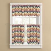 Colordrift Oasis Tier Kitchen Window Curtains