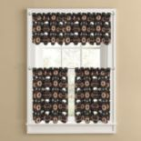 Colordrift Buffalo Roam Tier Kitchen Window Curtains