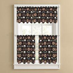 Colordrift Buffalo Roam Tier Kitchen Window Curtains