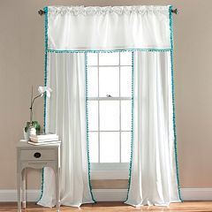 Lush Decor Aria Pom Pom Window Treatments