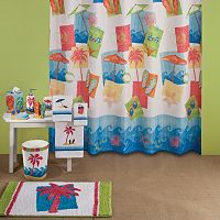Saturday Knight Miami Beach Shower Curtain Collection