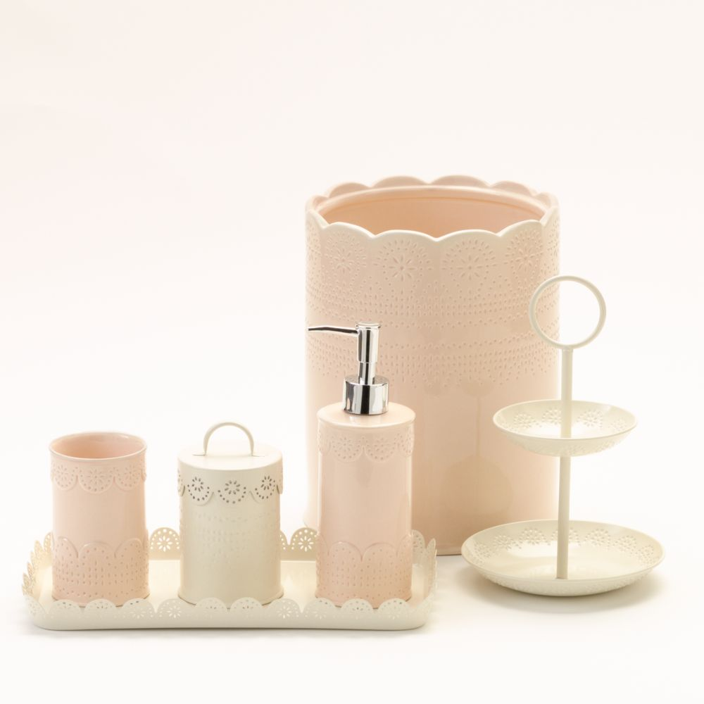 lc lauren conrad lace bathroom accessories collection