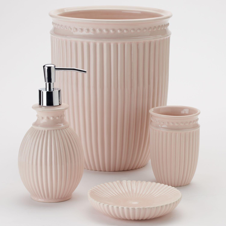 lc lauren conrad ribbed bathroom accessories collection