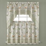 Saturday Knight, Ltd. Butterfly Bliss Tier Kitchen Window Curtains