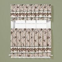 Saturday Knight, Ltd. Pinecone Plaid Tier Kitchen Window Curtains