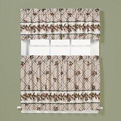 Saturday Knight, Ltd. Pinecone Plaid Tier Kitchen Window Curtains