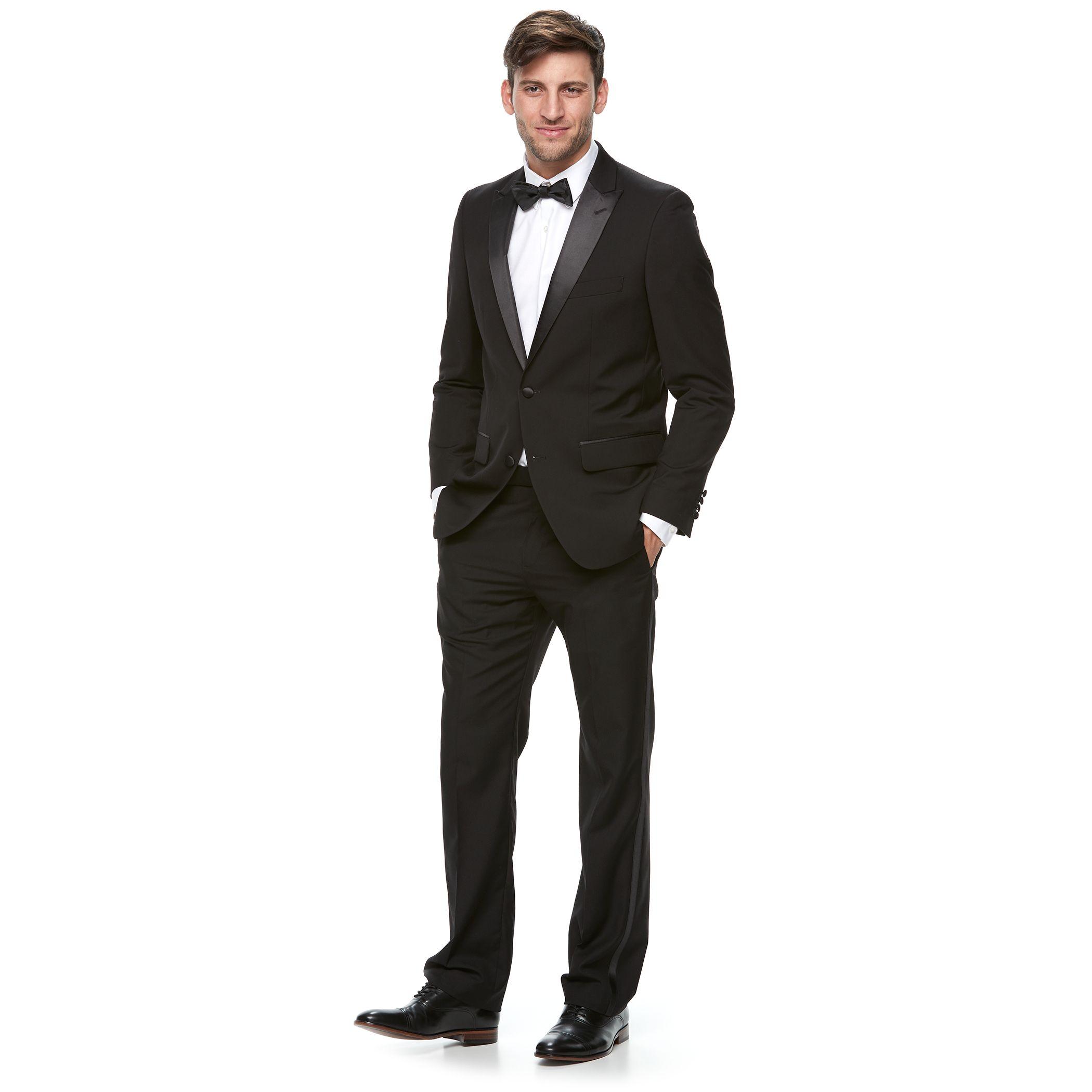 Black dress navy suit 42s