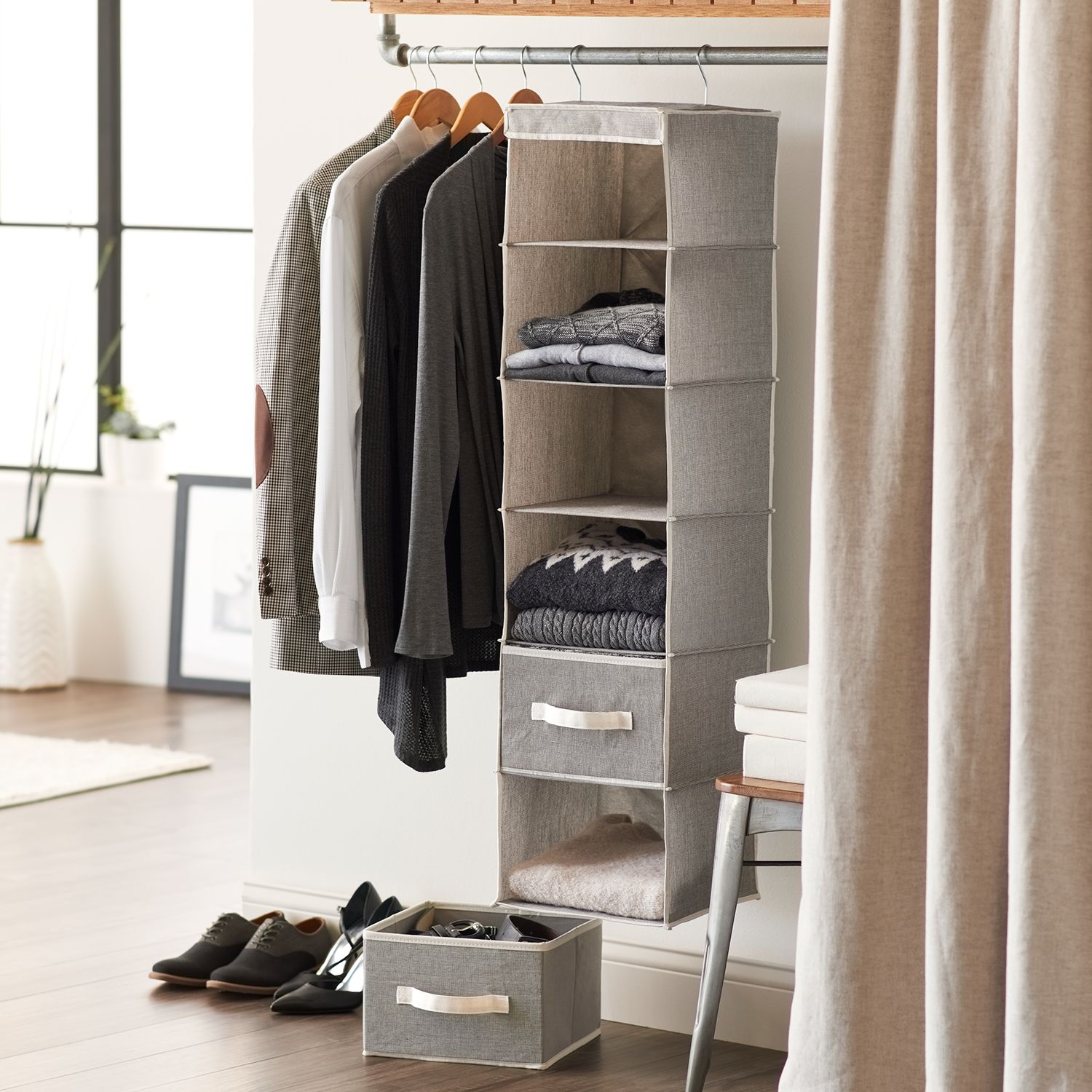 SONOMA Goods For Life™ Tweed Closet Organization Collection. Sale