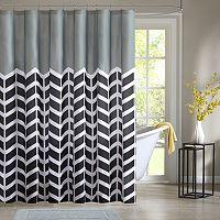 Intelligent Design Chevron Shower Curtain Collection
