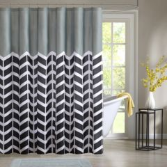 Chevron Shower Curtains intelligent design shower curtains & accessories - bathroom, bed