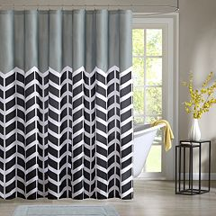Intelligent Design Chevron Shower Curtain Collection
