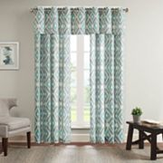 Madison Park Stetsen Diamond Printed Window Treatments