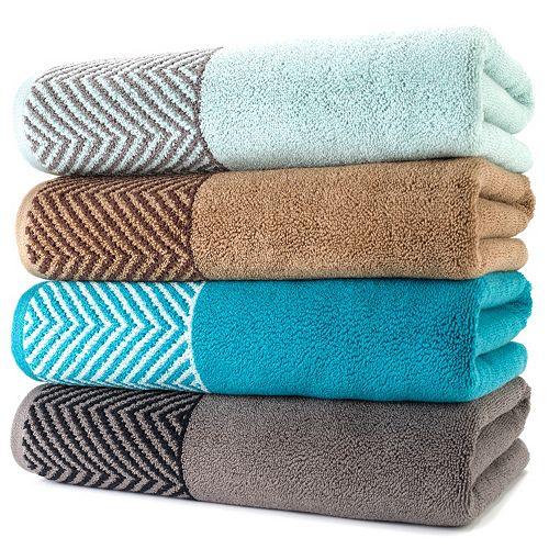 Curtains Ideas apt 9 shower curtain : Apt. 9 Highly Absorbent Chevron Bath Towels