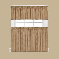 Saturday Knight, Ltd. Hopscotch Tier Kitchen Window Curtains