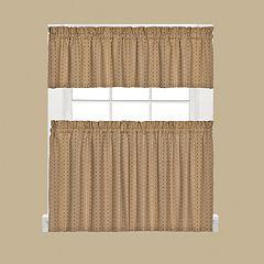 Saturday Knight, Ltd. Hopscotch Tier Kitchen Window Curtains