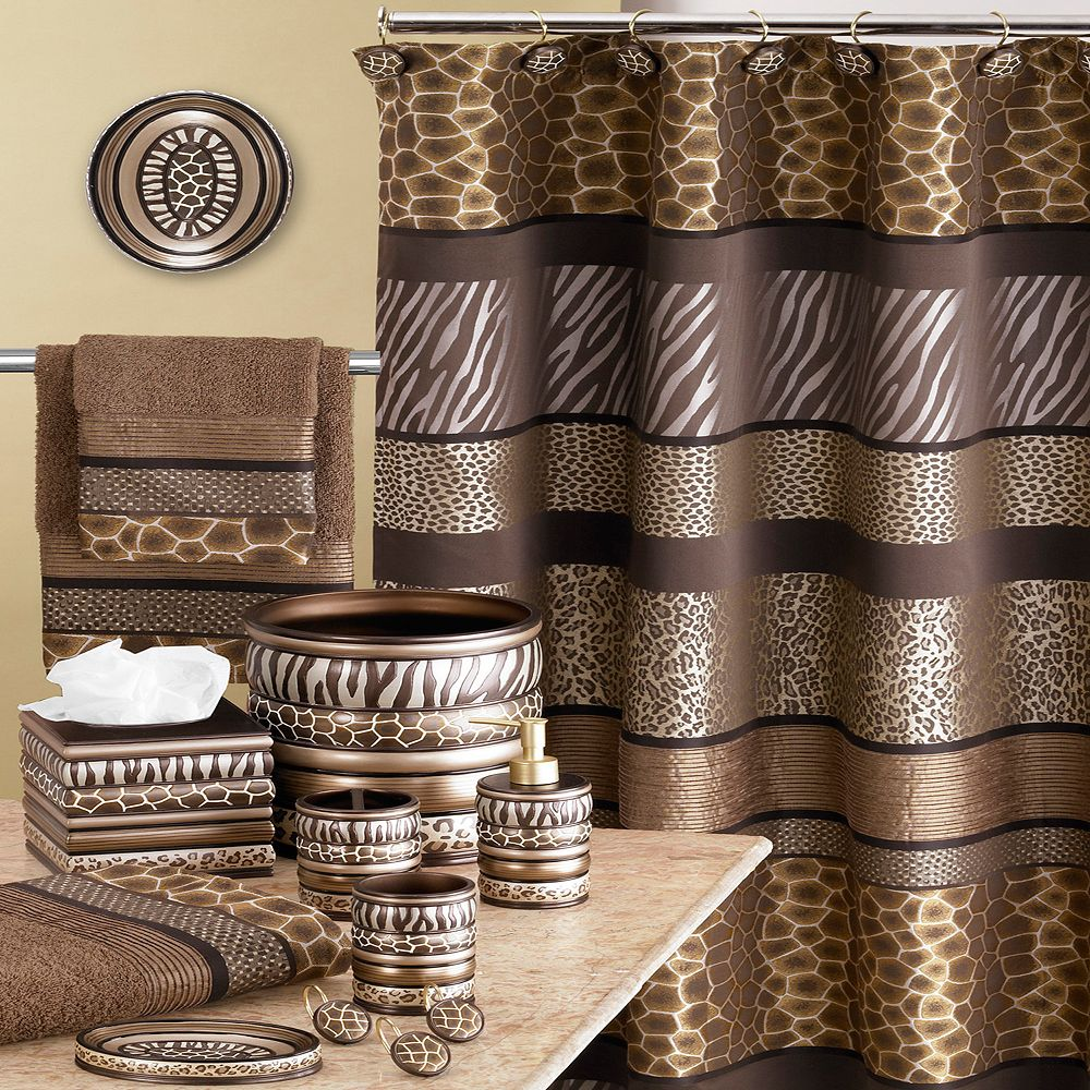 Safari Stripes Bathroom Accessories