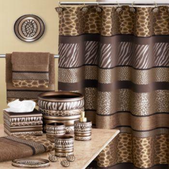 safari stripes bath accessories