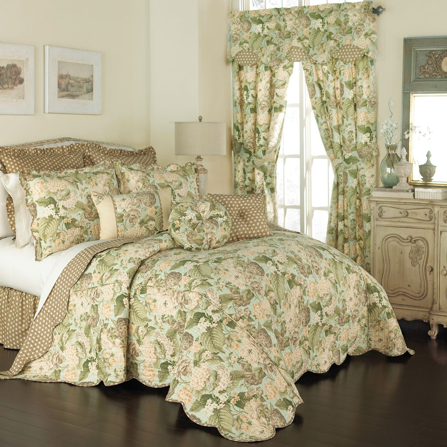 waverly garden glory bedspread collection - Waverly Bedding