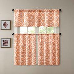 Madison Park Ella Printed Diamond Window Treatments