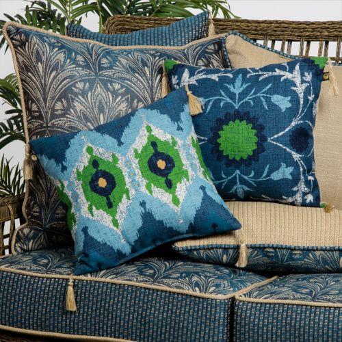Bombay® Outdoors Royal Zanzibar Reversible Cushions & Throw Pillows