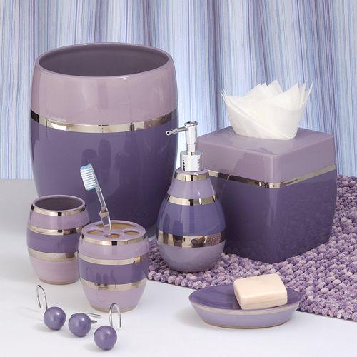 Shimmer purple bath coordinates for Bathroom coordinates