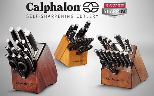 Calphalon SharpIN™ Self-Sharpening Cutlery—Self-Sharpen Technology