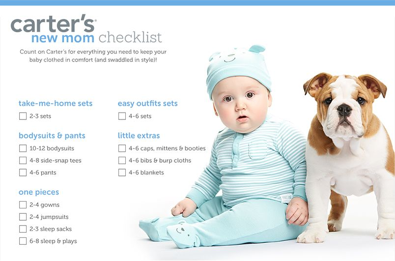 Carter's New Mom Checklist