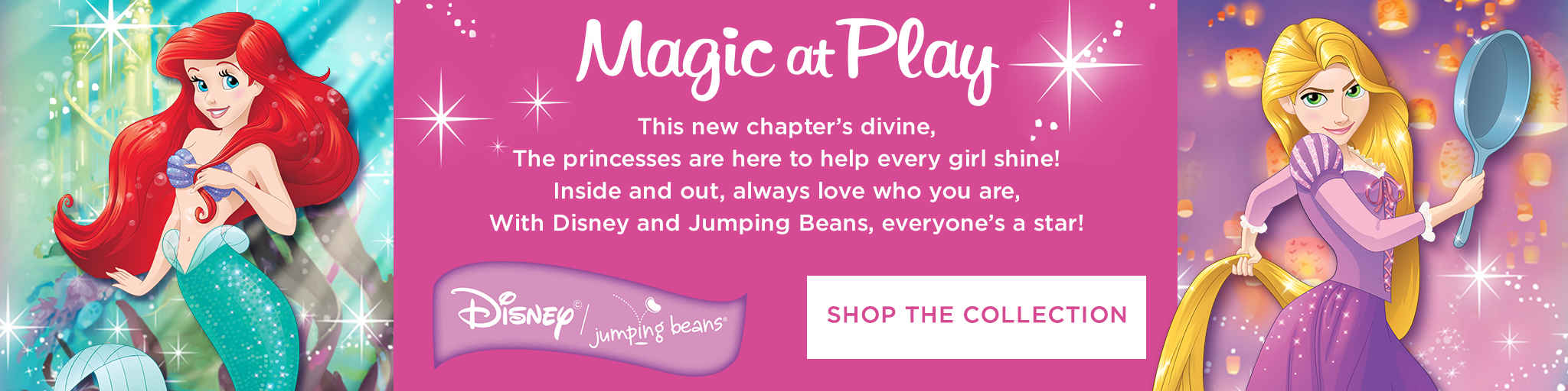 Disney Princess Ariel, Rapunzel, Jasmine and Belle clothing by Jumping Beans