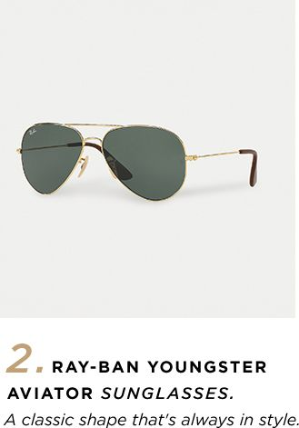 2. Ray-Ban Youngster Aviator Sunglasses - 'A classic shape that's always in style.'