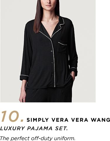 10. Simply Vera Vera Wang Luxury Pajama Set - 'The perfect off-duty uniform.'