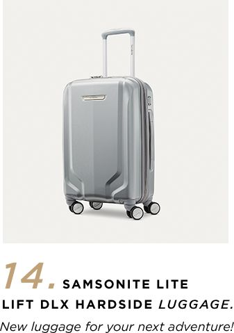 14. Samsonite Lite Lift DLX Hardside Luggage - 'New luggage for your next adventure.'