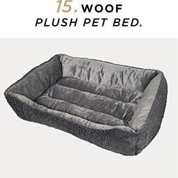 15. Woof Plush Pet Bed