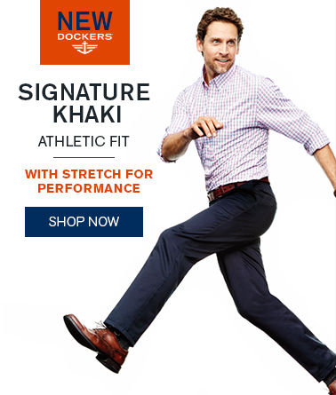 New Dockers®Signature Khaki Athletic Fit with Stretch for Performance