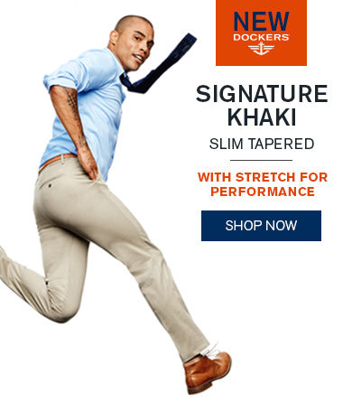 New Dockers®Signature Khaki Slim Tapered with Stretch for Performance