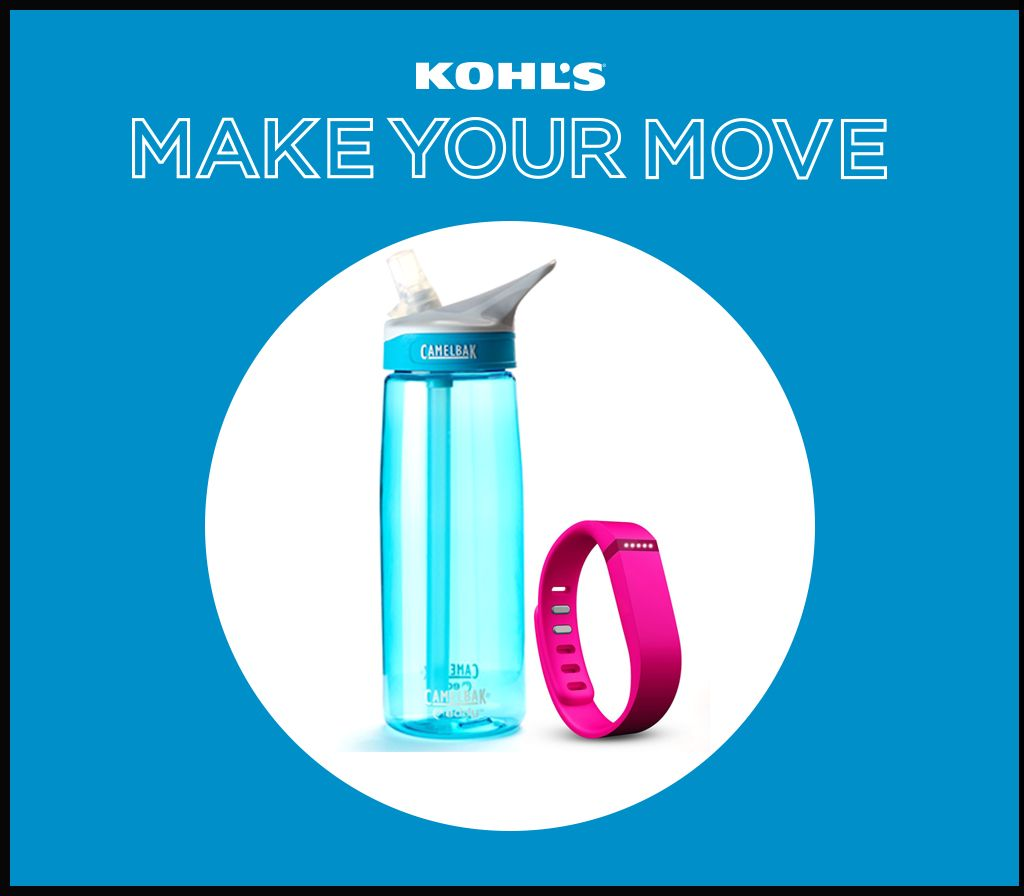 Fitbit and water bottle