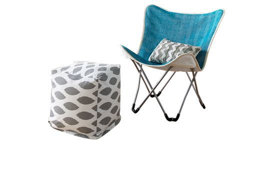 Foldable chair and ottoman