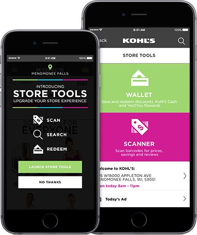 Store Tools section visible on smartphone
