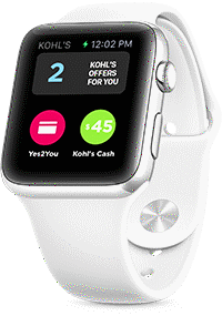 Apple Watch with Red Band Using the Kohl's App