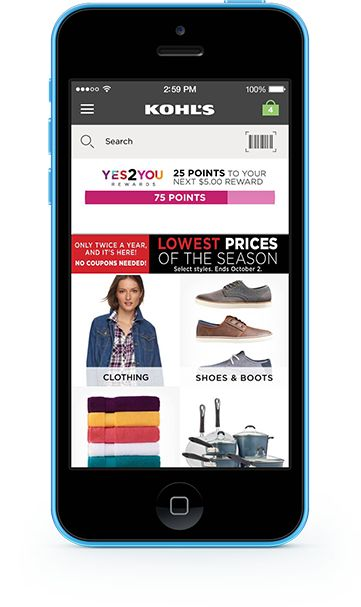 Blue iPhone 5c Using the Kohl's App