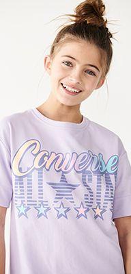 girls purple converse all-star t-shirt