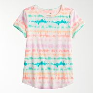 girls tie-dyed short-sleeved t-shirt