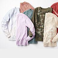 assortment of women's long-sleeved tops