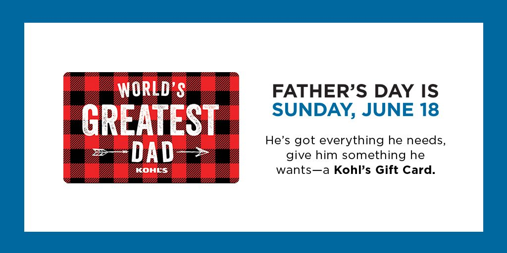 Father's Day is Sunday, June 18