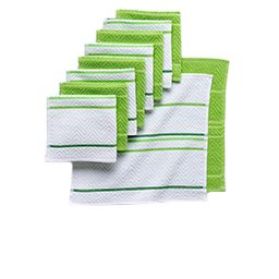 kitchen towels, oven mitts and aprons