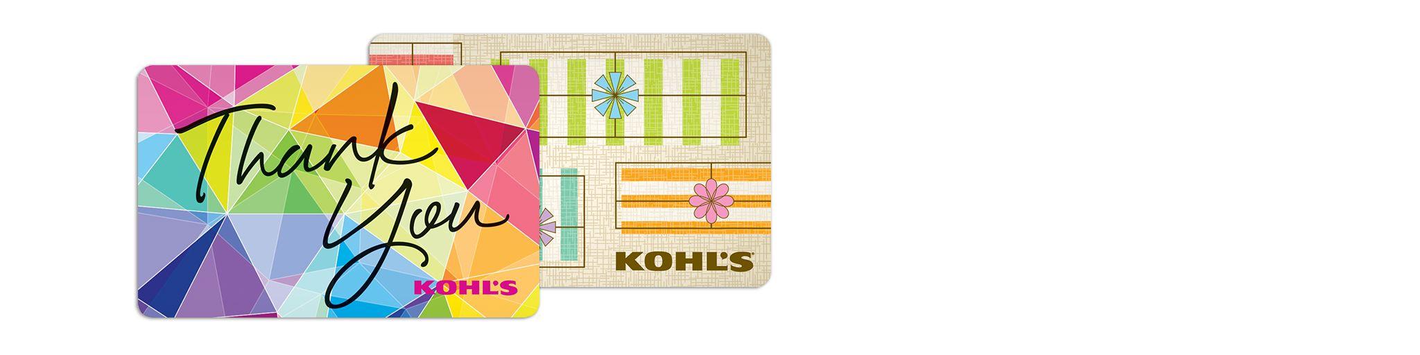 Gift Cards: Kohls Gift Cards & Gift Card Holders Kohls