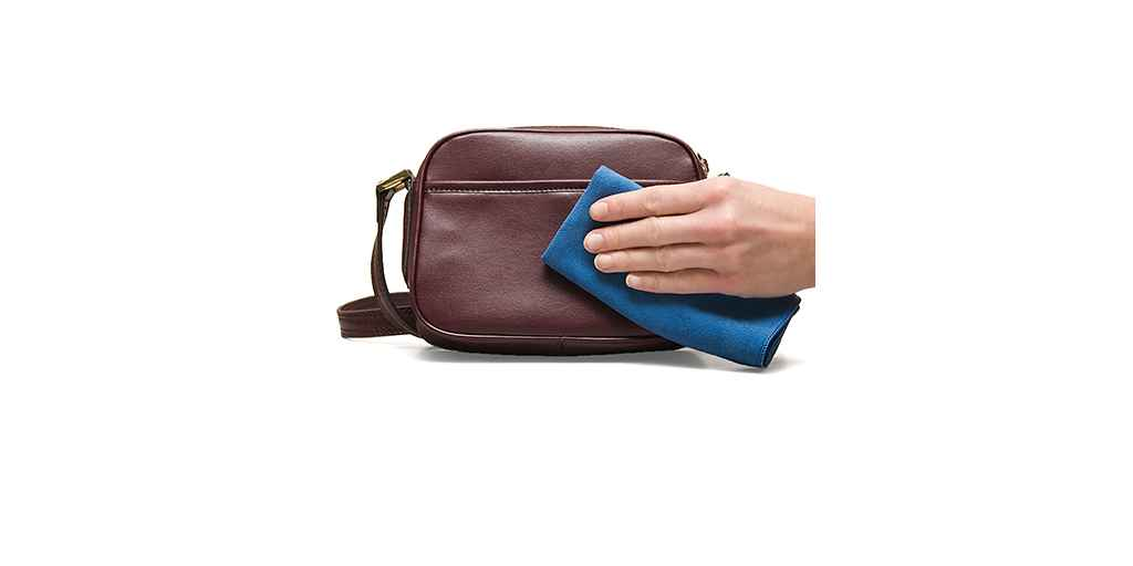 how to clean soft leather handbag