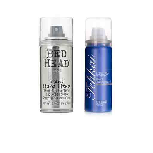 travel sized hair care