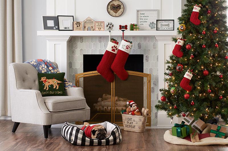 all christmas decor lc lauren conrad holiday farmhouse lodge st nicholas square pet holiday