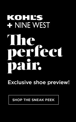 Kohl's + Nine West The Perfect Pair. Exclusive shoe preview!  Shop the sneak peek.